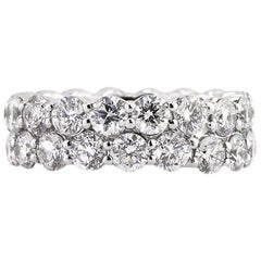 Mark Broumand 5.03 Carat Round Brilliant Cut Diamond Eternity Band