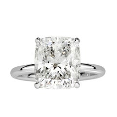 Mark Broumand 5.12 Carat Cushion Cut Diamond Engagement Ring