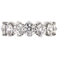 Mark Broumand 5.50 Carat Round Brilliant Cut Diamond Eternity Band