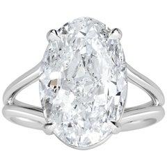 Mark Broumand 8.06 Carat Oval Cut Diamond Engagement Ring