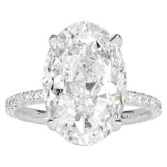 Mark Broumand 8.65 Carat Oval Cut Diamond Engagement Ring