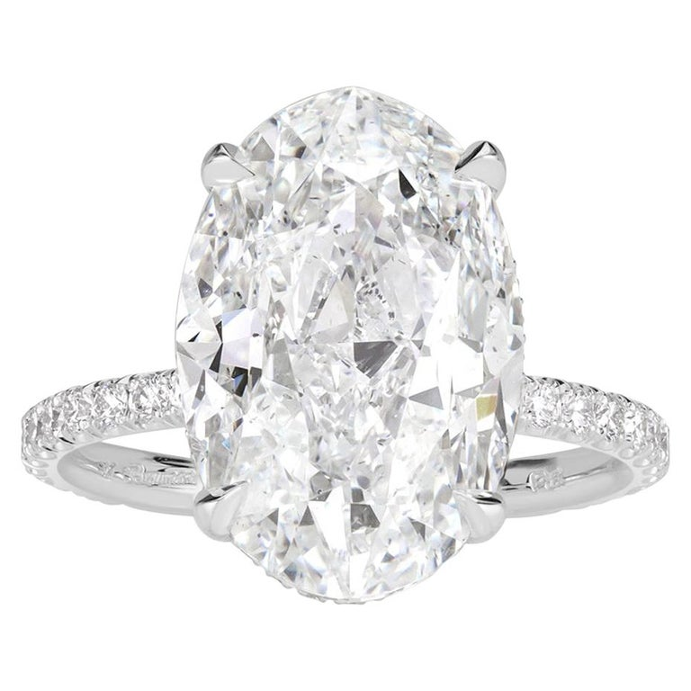 Mark Broumand 8.65 Carat Oval Cut Diamond Engagement Ring