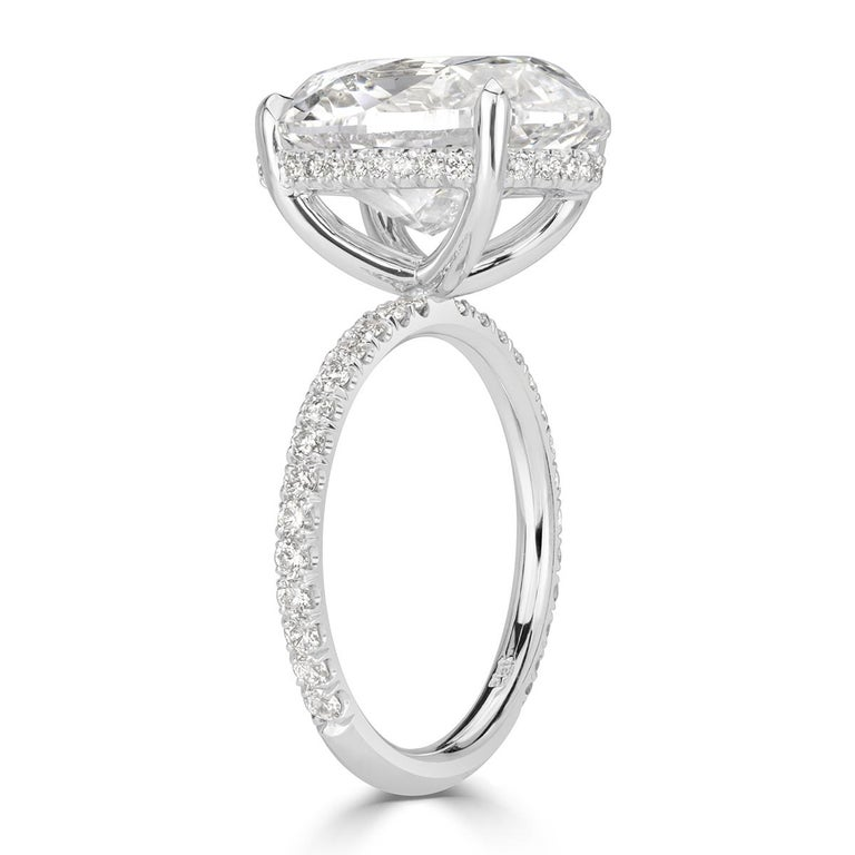 Mark Broumand 8.65 Carat Oval Cut Diamond Engagement Ring In New Condition In Los Angeles, CA