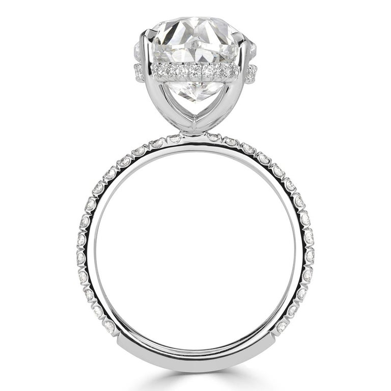 Women's or Men's Mark Broumand 8.65 Carat Oval Cut Diamond Engagement Ring