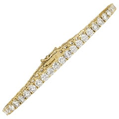 Mark Broumand 8.95ct Round Brilliant Cut Diamond Tennis Bracelet in 18k Yellow