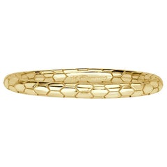 Mark Broumand Scale Wedding Band in 18 Karat Yellow Gold