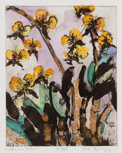 O. Oncidium - Yellow Orchid Flower Hand-painted Print