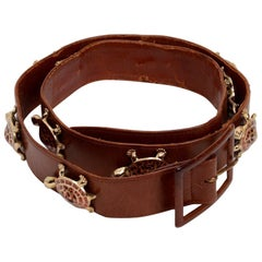 Mark Cross Belt with Enameled Turtles From the Estate of Pauline Trigère