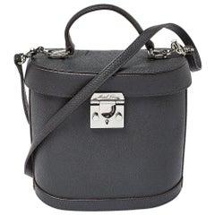 Mark Cross Black Leather Benchley Top Handle Bag
