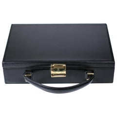 Mark Cross Calf Leather Hard Suitcase