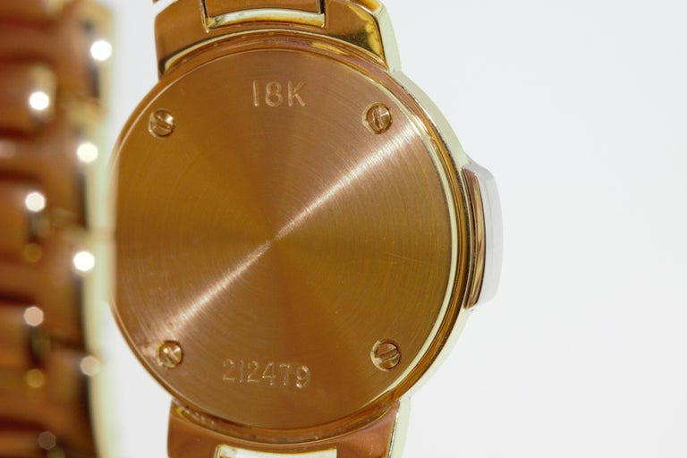 Modern Mark Cross Gold Watch with Pearl Dial For Sale