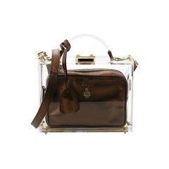 Mark Cross  Grace Box Bag Pexiglass and Leather Small