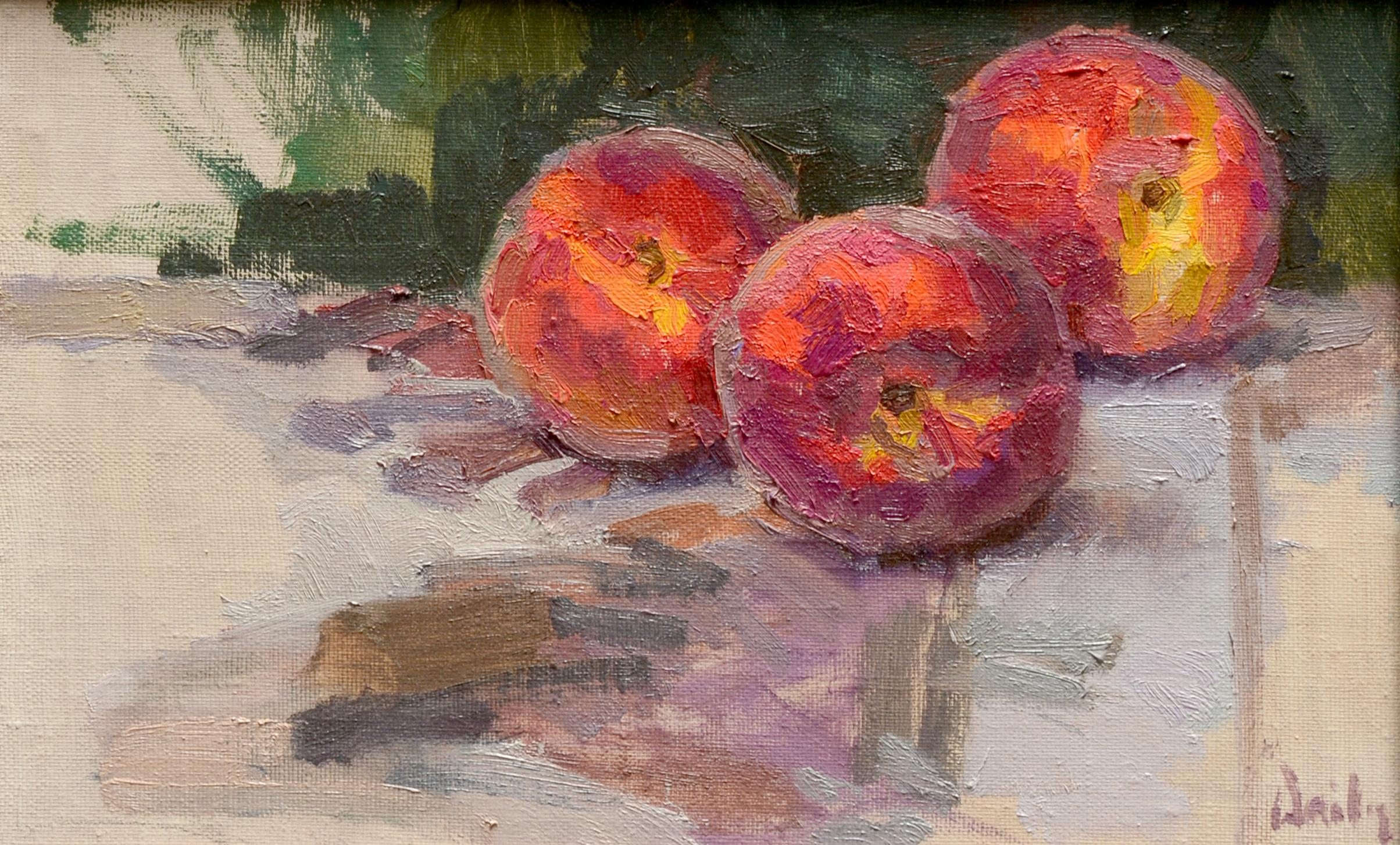 """""""July Peaches"""" Oil Painting"""