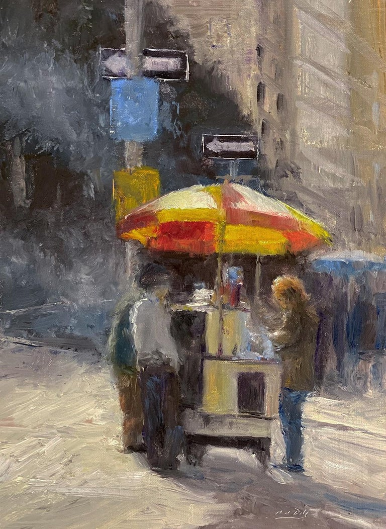 Mark Daly Figurative Painting - MARK DALY, A New York Treat, 2020