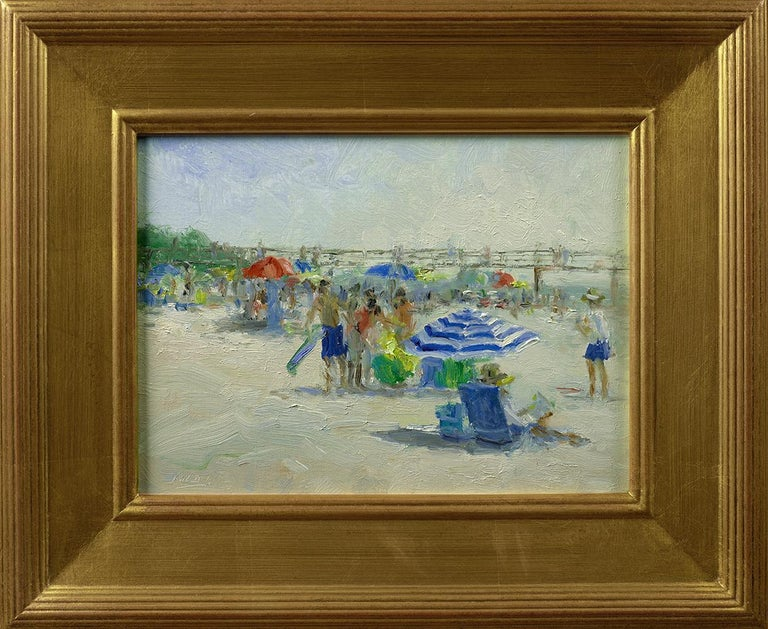 MARK DALY, At the Beach, Naples, FL, 2019 - Painting by Mark Daly