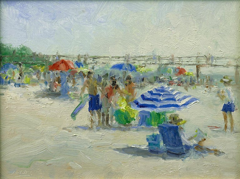 Mark Daly Figurative Painting - MARK DALY, At the Beach, Naples, FL, 2019