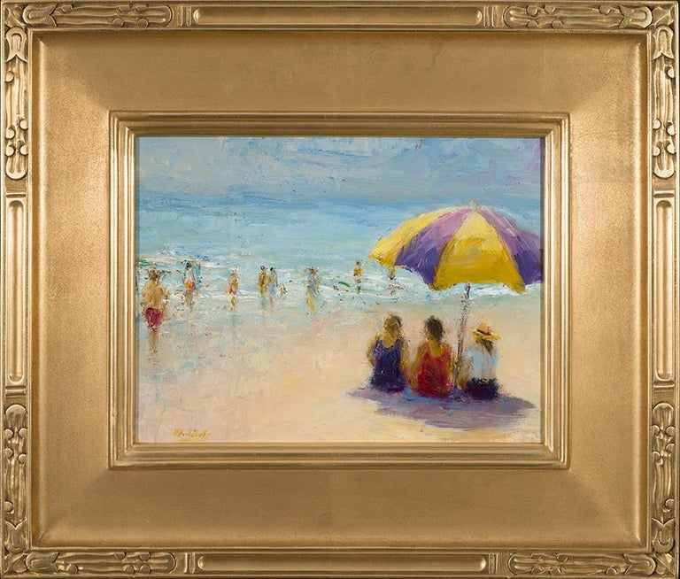 MARK DALY, Beach Talk - Painting by Mark Daly