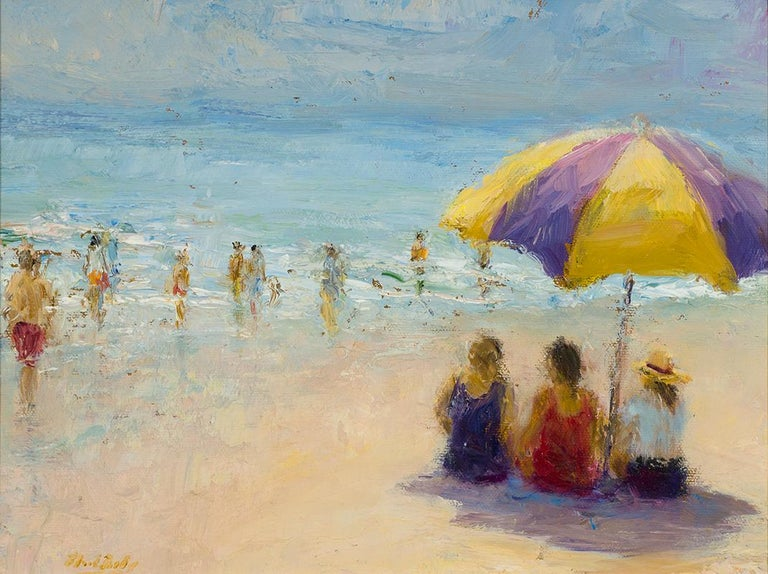 Mark Daly Landscape Painting - MARK DALY, Beach Talk