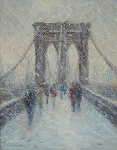 MARK DALY, Brooklyn Bridge in Snow