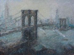 Mark Daly, The Great Bridge in Winter, oil on canvas