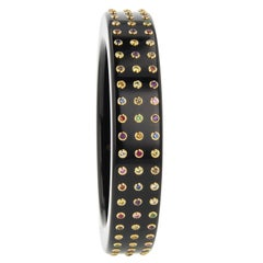 Mark Davis Vintage Bakelite Bangle with Various Gemstones in 18 Karat Gold