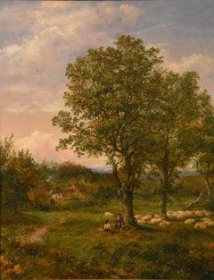 """Oil Painting by Mark Edwin Dockree """"Pastoral scene near Dedham"""""""