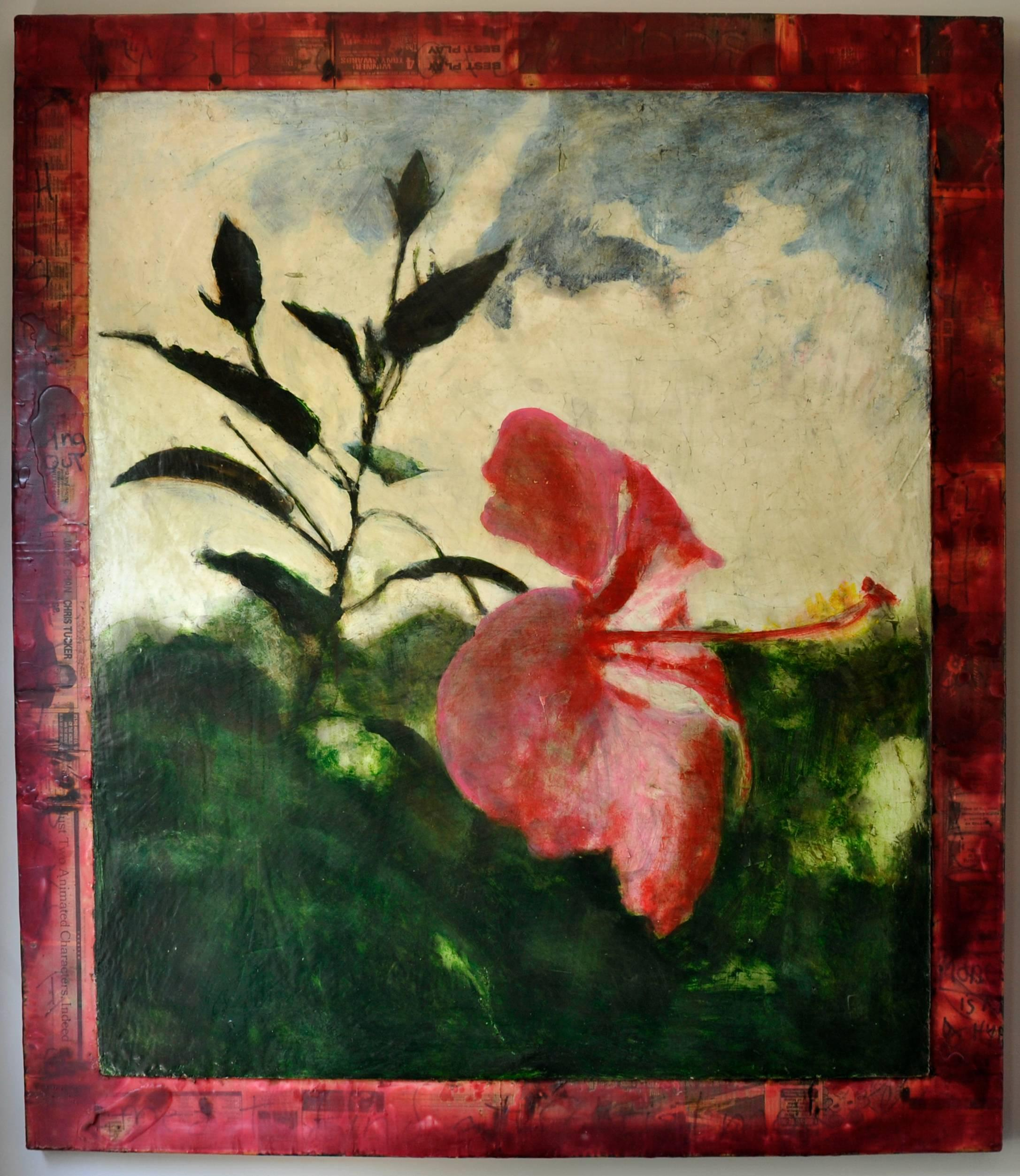 Mark Gaskin Hibiscus I Mixed Media For Sale At 1stdibs