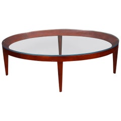 "Mark Goetz for Bernhardt Design Modern ""Cirque"" Oval Coffee Table"