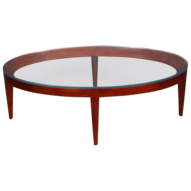 "Mark Goetz for Bernhardt Design Modern ""Cirque"" Oval Coffee Table For Sale"