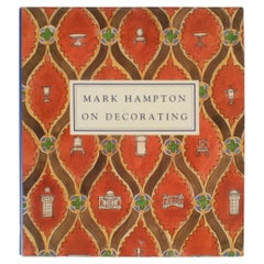 """Mark Hampton on Decorating"" Book , First Edition"