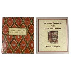Mark Hampton Watercolor Illustrated Creative Interiors Decorating Books, S/2