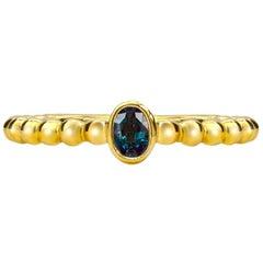 Mark Henry 0.20 Carat Natural Brazilian Alexandrite Ring, 18 Karat