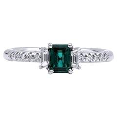 Mark Henry 0.54 Carat Natural Brazilian Alexandrite and Diamond Ring, 18 Karat