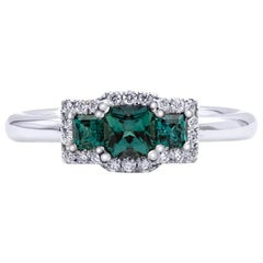 Mark Henry 0.75 Carat Natural Brazilian Alexandrite and Diamond Ring, 18 Karat