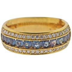 Mark Henry 1.03 Carat Alexandrite Diamond Gold Band Ring