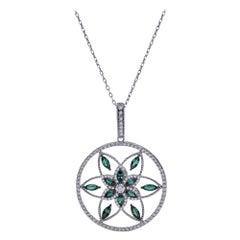 Mark Henry 1.67 Carat Natural Brazilian Alexandrite and Diamond Necklace, 18kt