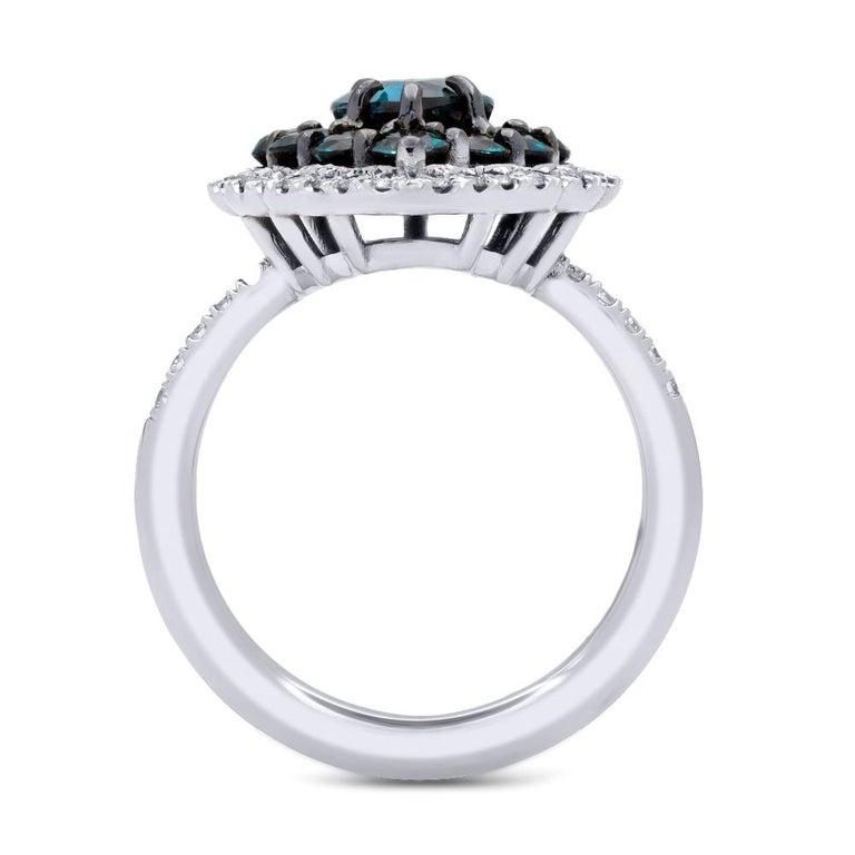 Contemporary Mark Henry 1.78 Carat Natural Brazilian Alexandrite and Diamond Ring, 18 Karat For Sale