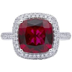 Mark Henry 3.30 Carat Rubellite Tourmaline and Diamond Ring, 18 Karat