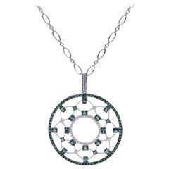 Mark Henry 3.83 Carat Natural Brazilian Alexandrite and Diamond Necklace, 18kt