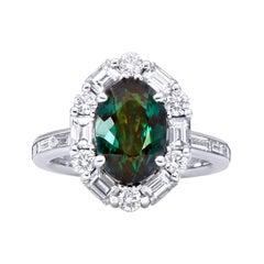 Mark Henry 4.27 Carat Natural Brazilian Alexandrite and Diamond Ring, 18 Karat
