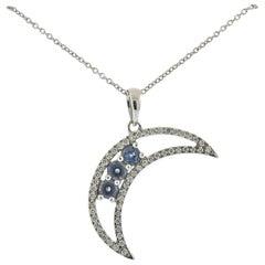 Mark Henry Alexandrite Diamond Gold Half Moon Pendant
