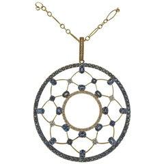 Mark Henry Alexandrite Diamond Gold Pendant Necklace