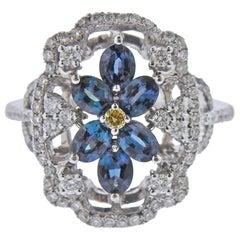 Mark Henry Alexandrite Diamond Gold Ring