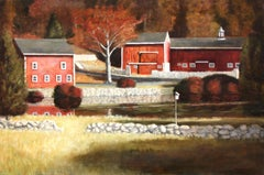 Autumn in the Valley, Painting, Oil on Canvas