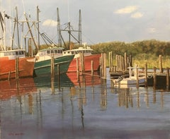 Barnegat Light Fishing Boats, Painting, Oil on Canvas