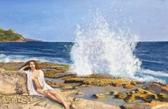 Crashing Wave, Painting, Oil on Canvas