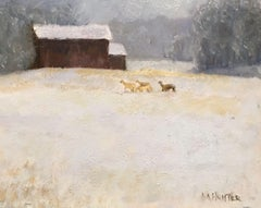 First Snow, Painting, Oil on Wood Panel