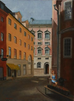 Gamla Stan, Sweden, Painting, Oil on Canvas