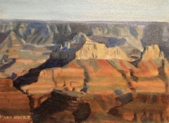 Grand Canyon North Rim View, Painting, Oil on Canvas