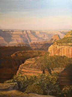Grand Canyon Sunrise, Painting, Oil on Wood Panel